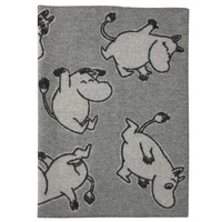 Happy Moomin blanket grey