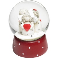 Angels in Snow Globe