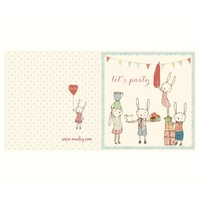 Bunny Party Card