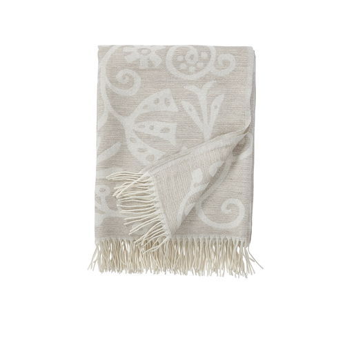 Blush Wool Throw linen D