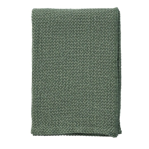 Basket Cotton Blanket green